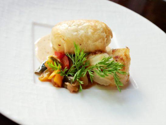 ホタテ貝のパイ包み