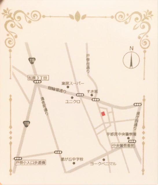カフェデプランセスの地図