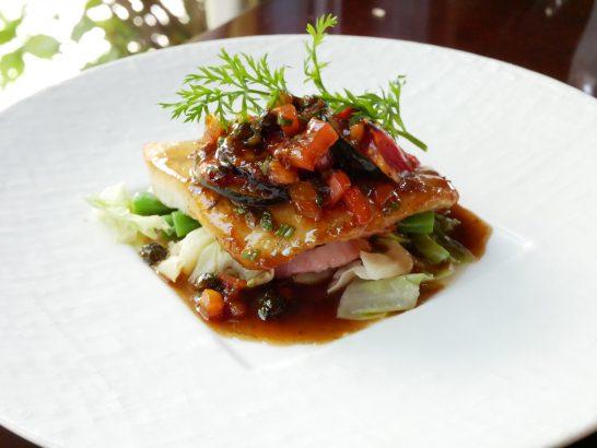 白身魚のビネグレットソース