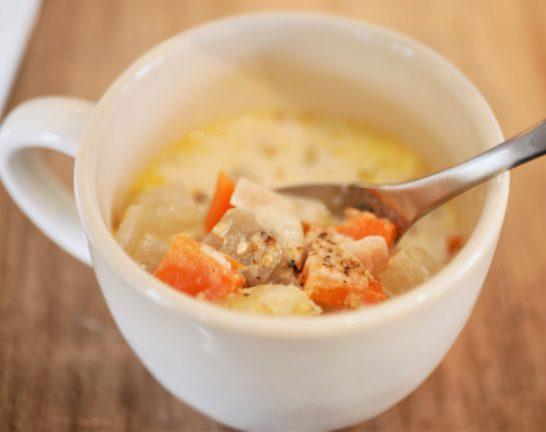 野菜がゴロゴロ入ったスープ